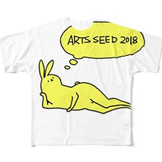 ASO2018×タドリ 美脚うさぎ Full graphic T-shirts