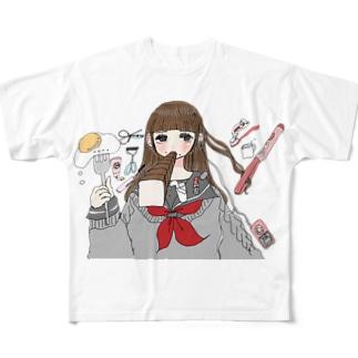 ちこくちこく 2 Full graphic T-shirts