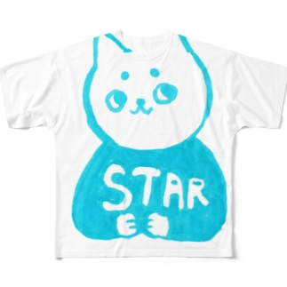 麻呂眉川さん「STAR」 Full graphic T-shirts