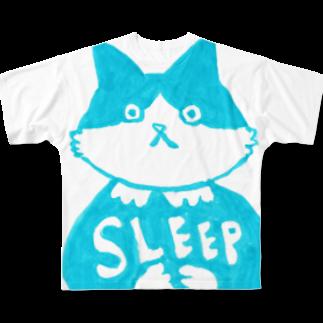 vagの末広さん「SLEEP」 Full graphic T-shirts