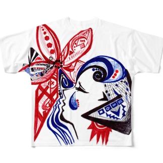迷える少女 Full graphic T-shirts