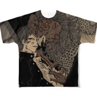 躾は終夜 Full graphic T-shirts
