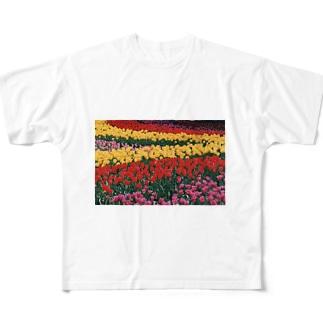 虹色の道 Full graphic T-shirts