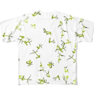 グリーンヒドラの群れ・白 Full graphic T-shirts