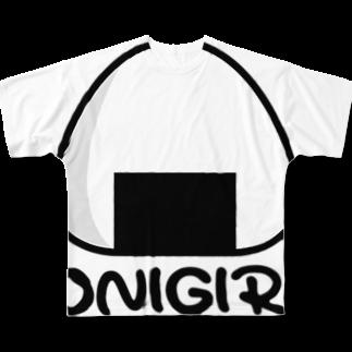 ぽっぷんすたんぷ -POP'N STAMP-のおにぎりTシャツ -onigiri- Full graphic T-shirts