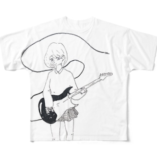 テレキャスター少女 Full graphic T-shirts
