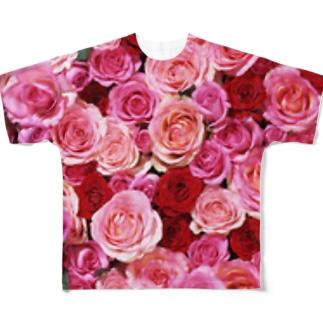 ローズ Full graphic T-shirts