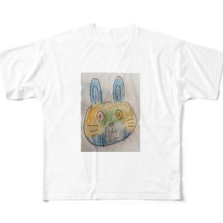 うさぎ Full graphic T-shirts