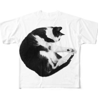 まるまりねこ Full graphic T-shirts
