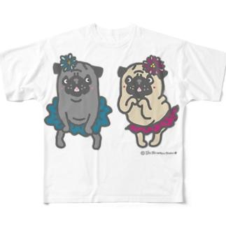 おなかぽよんアイドルパグちゃん☆ Full graphic T-shirts