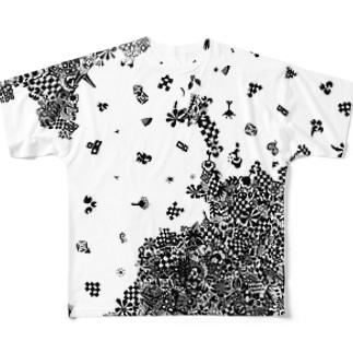 雪 Full graphic T-shirts