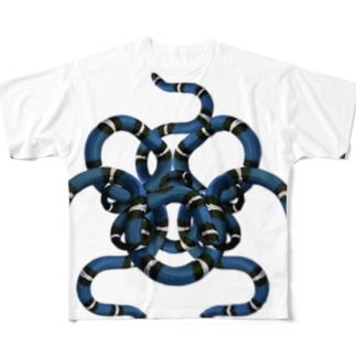 Snakyz Blue Full graphic T-shirts