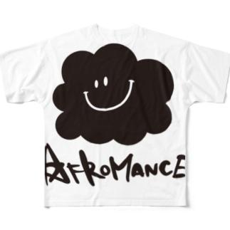 アフロマンス・ロゴ フルグラフィックTシャツ