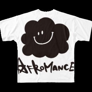 AFROMANCEのアフロマンス・ロゴ フルグラフィックTシャツ