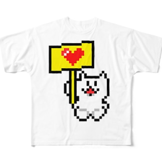 すぱにゃん Full graphic T-shirts