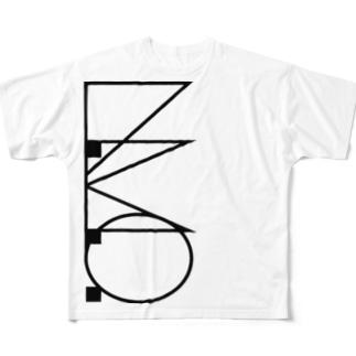 L.M.O.ロゴ(縦バージョン) Full graphic T-shirts