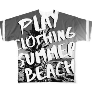 PLAY BEACH MONOTONE Full graphic T-shirts
