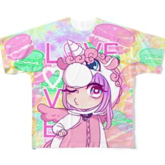 ユニコ Full graphic T-shirts