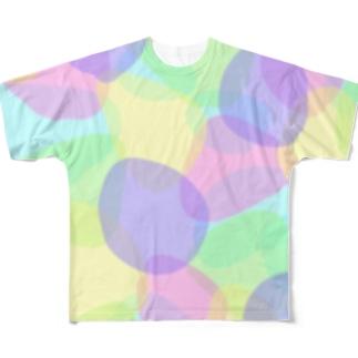 カラフル水玉 Full graphic T-shirts