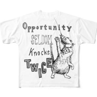 チャンスはなかなか2度はない Full graphic T-shirts