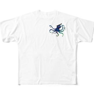 枠無しSchnorchel Full graphic T-shirts