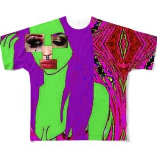 顔面偏差値 Full graphic T-shirts