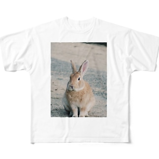 Kani(うさぎ)メイン Full graphic T-shirts