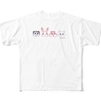 4匹のお友達 Full graphic T-shirts