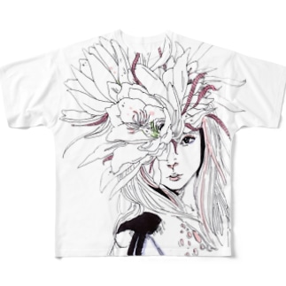 月下美人 Full graphic T-shirts