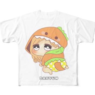 ダヒョン 着ぐるみ赤ちゃんキャラ Full graphic T-shirts