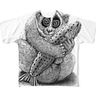 すろーらいふ Full graphic T-shirts