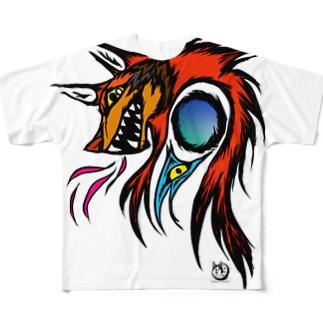 戦いの狼犬カーリー Full graphic T-shirts