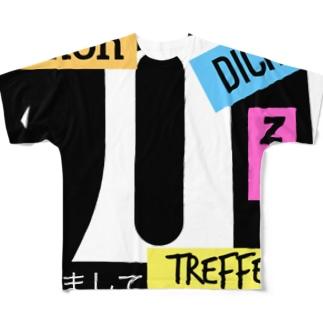 schon dich tu treffen 初めましてTシャツ Full graphic T-shirts