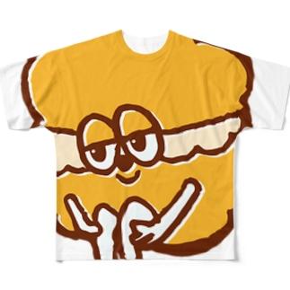 モリシタアイミのシュークリームくん (キャラONLY) Full graphic T-shirts