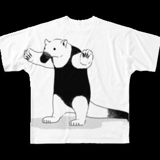 よもぎの威嚇するコアリクイ Full graphic T-shirts