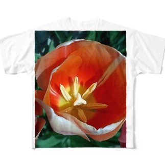 柔らかい日差しの中で Full graphic T-shirts