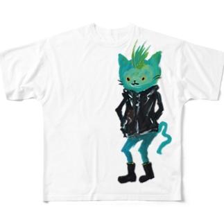 ねこびとさん(ジョエル) Full graphic T-shirts