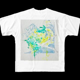 小柚の夏の日の水と泳ぐ Full graphic T-shirts