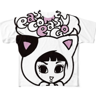 COTTON BABY(CAT) Full graphic T-shirts