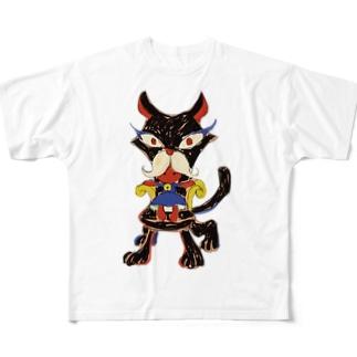 nekochan Full graphic T-shirts