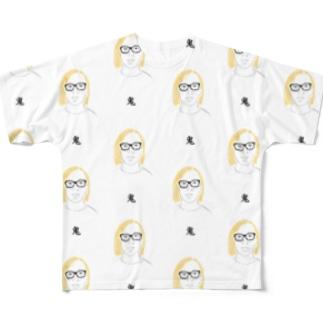 すずき(鬼柄) フルグラフィックTシャツ