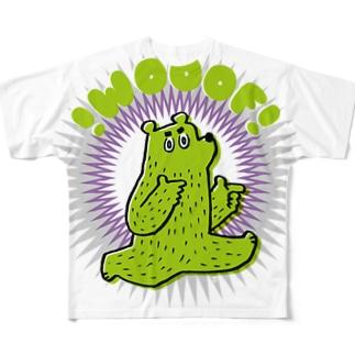 WOOOF! グリーン Full graphic T-shirts