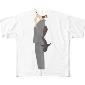 さめ子さんの捕食前 Full graphic T-shirts