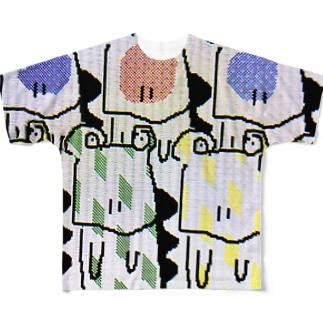 ワニくん Full graphic T-shirts