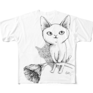 シロネコ宅急便 Full graphic T-shirts
