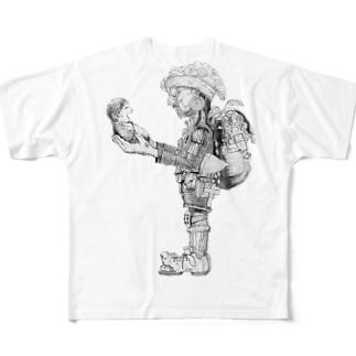 人 Full graphic T-shirts