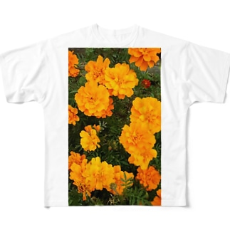 イエローオレンジ Full graphic T-shirts