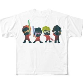 フォース3個分イカス色 フルグラフィックTシャツ