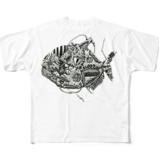 ピラニア Full graphic T-shirts