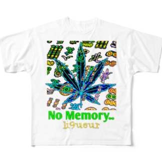 No Memory..カオス Full graphic T-shirts